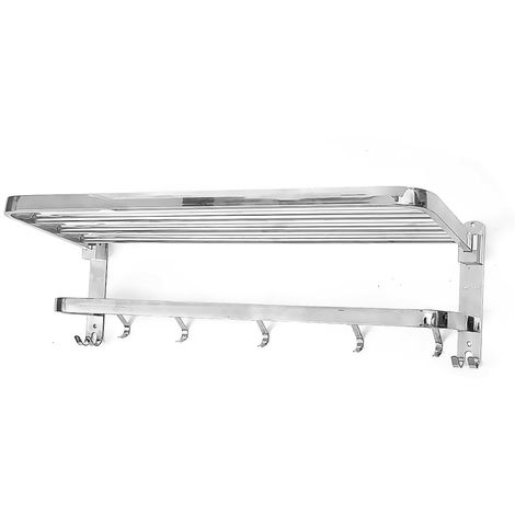Foldable 304 Stainless Steel Wall Towel Bar