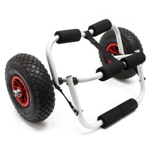 Foldable Alu transport cart up to 45 kg for boats, canoe or kayak