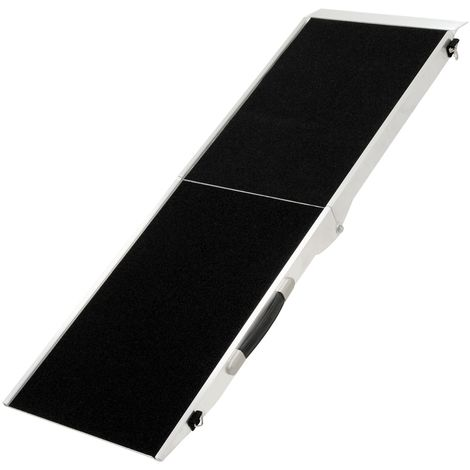 Foldable aluminium dog ramp, 122 x 38 x 5 cm