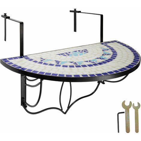 "main image of ""Foldable Balcony Table Mosaic - folding garden table, mosaic garden table, small patio table"""