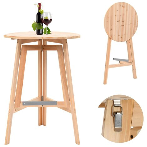 "main image of ""Foldable Bar Table 78 cm Fir Wood - Brown"""