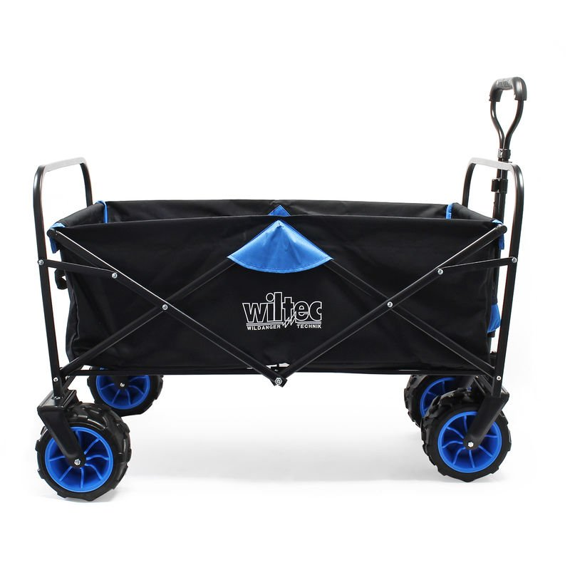 Foldable Beach Handcart with Extra Wide Tyres for Sandy Terrains