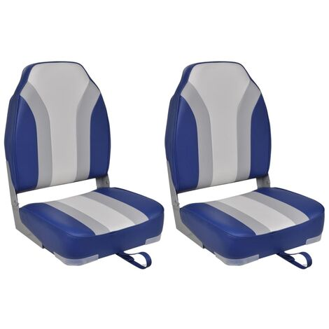 Foldable Boat Chairs 2 pcs High Backrest
