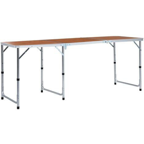 Foldable Camping Table Aluminium 180x60 cm