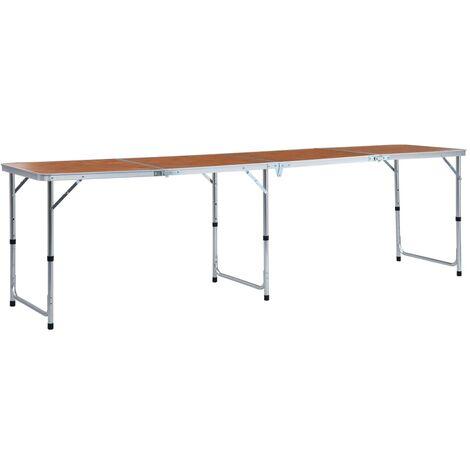 Foldable Camping Table Aluminium 240x60 cm