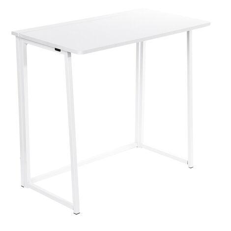 Foldable Computer Desk Laptop PC Table Wooden+Metal 80x45x74cm