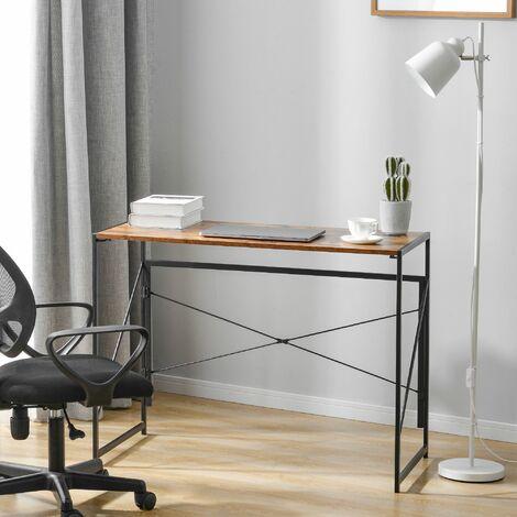 Foldable Computer Desk Laptop table Office Desk Brown