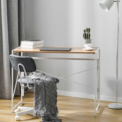 "main image of ""Foldable Computer Desk Laptop table Office Desk Natural"""