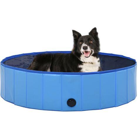Foldable Dog Swimming Pool Blue 120x30 cm PVC