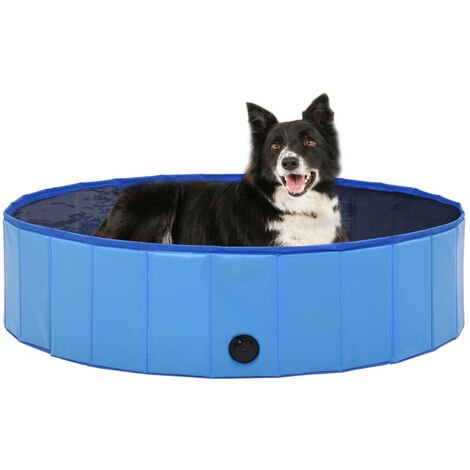 Foldable Dog Swimming Pool Blue 120x30 cm PVC