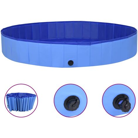 Foldable Dog Swimming Pool Blue 300x40 cm PVC