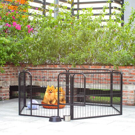 Foldable Heavy Duty 6pcs Large High Puppy Dog Play Pen Run Enclosure