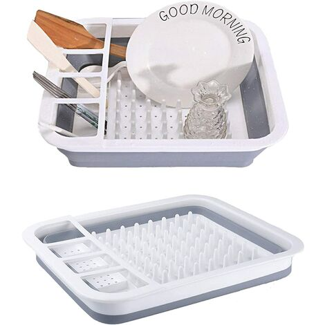 Foldable Kitchen Dish Rack, Portable Kitchen Organizer, Kitchen Sink Drainer for Drying Fruits and Vegetables, Bowls, Plates