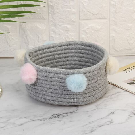 Foldable Laundry Basket Toy Storage Clothes Basket Laundry Basket Cotton Hairballs (Gray)