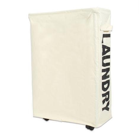 Foldable Laundry Storage Basket Organizer with Wheels