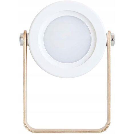 Foldable LED Desk Lamp Foldable Creative Nightby Retractable Lantern, New USB Charging Lamp for Bedroom (White)