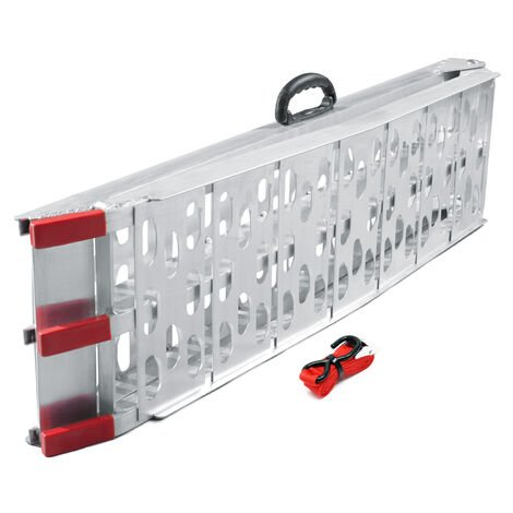 Foldable Loading Ramp Scooter Ramp ATV Quad Portable Aluminium 89x12 Inches 750lbs (226cm 340kg)