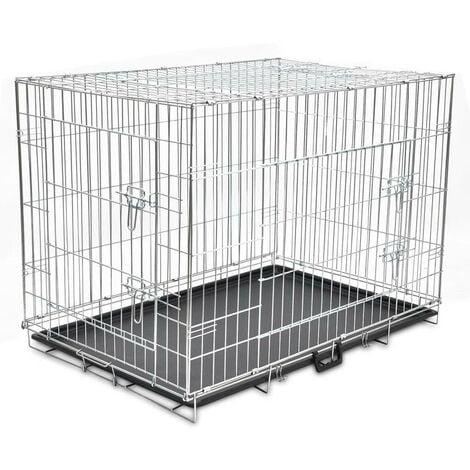 Foldable Metal Dog Bench XL VD06935