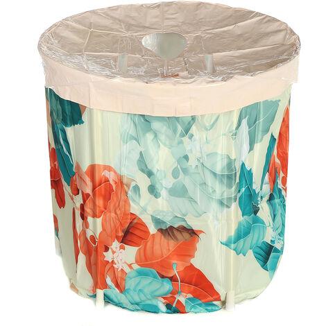 Foldable Multifunctional Sauna Bath Bucket Adult Foldable SPA Barrel Tub Thickened Full Bath Tub (5 Style Tub Bucket)