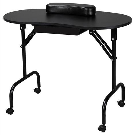 Foldable Portable Manicure Table Nail Technician Desk Workstation With Bag / Wrist Rest