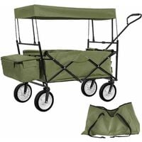 Foldable pull along trolley with roof incl. carrying bag