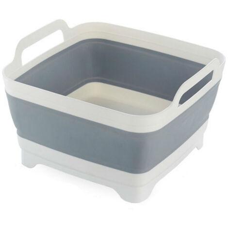 """main image of """"Foldable sink kitchen sink drain basket, vegetable basket storage basket, gray"""""""