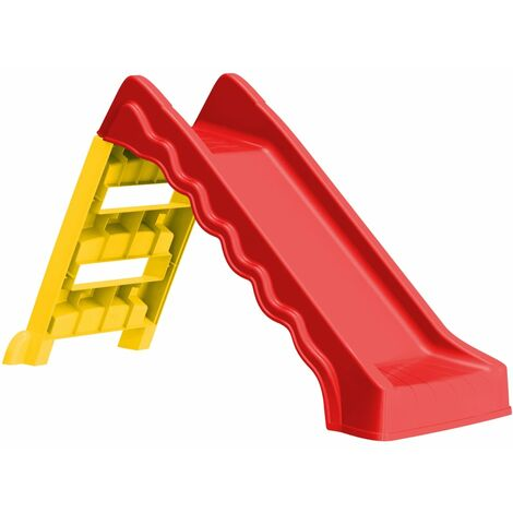 Foldable Slide for Kids Indoor Outdoor Red and Yellow