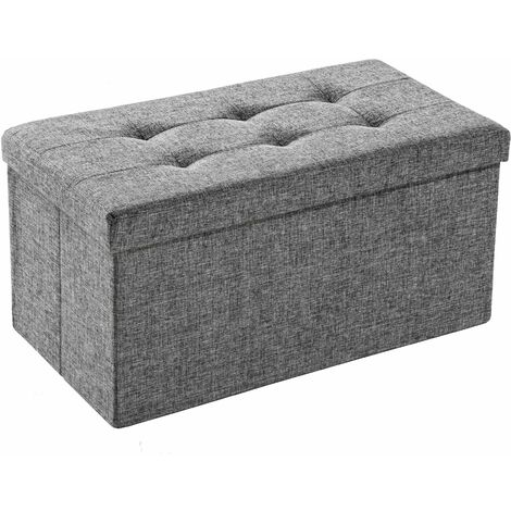 Foldable storage bench made of polyester - storage ottoman, shoe storage bench, hallway bench
