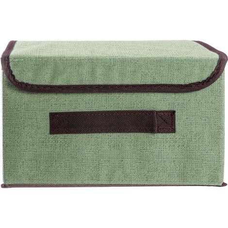 Foldable Storage Box Organizer + Cover Fabric Cube Basket