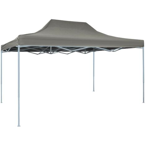 Foldable Tent Pop-Up 3x4.5 m Anthracite