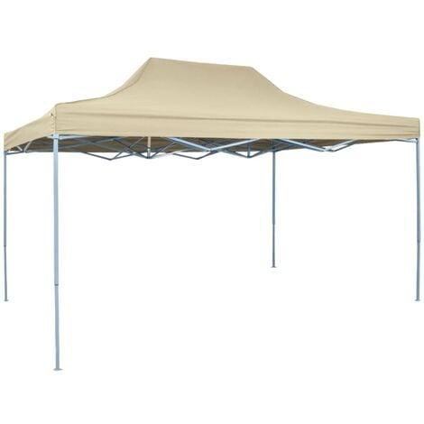 "main image of ""Foldable Tent Pop-Up 3x4.5 m Cream White - Cream"""
