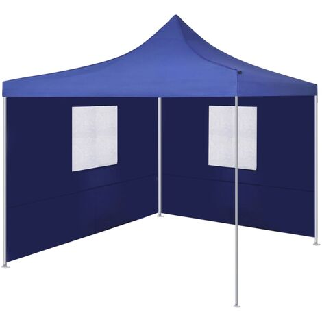 Foldable Tent with 2 Walls 3x3 m Blue