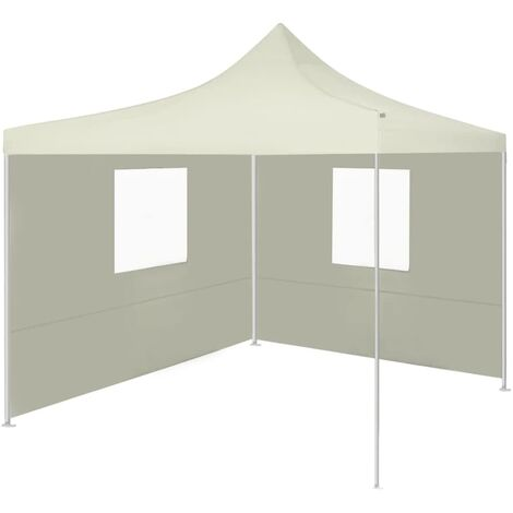 Foldable Tent with 2 Walls 3x3 m Cream