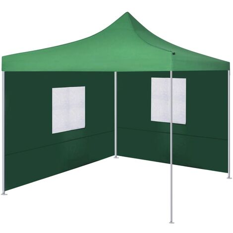 Foldable Tent with 2 Walls 3x3 m Green - Green