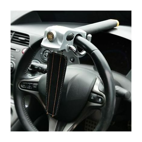 Foldable Vehicle Car Airbag Steering Wheel Security Lock Anti Theft With 3 Keys