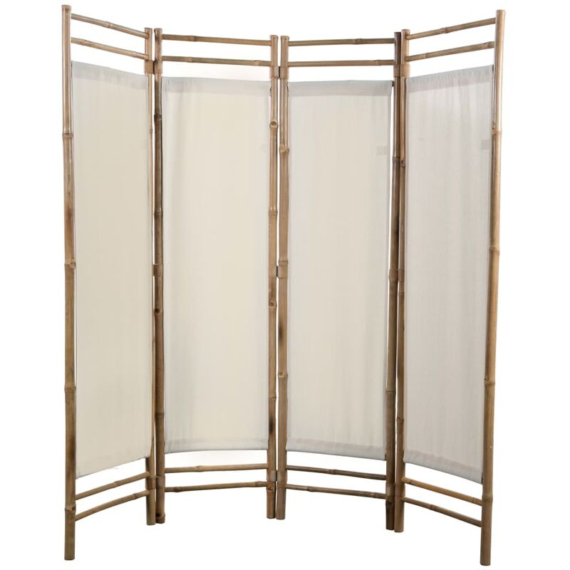 vidaXL 4-Panel Bamboo Room Divider Foldable Partition Privacy Wall Screen