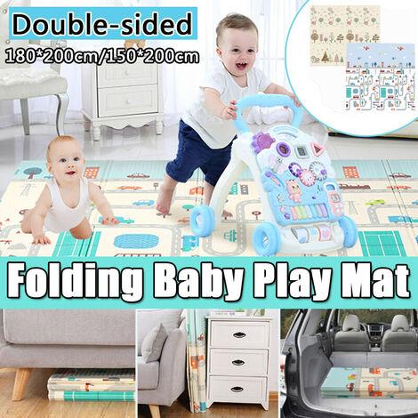 Folding Baby Play Mat Children Crawling Carpet Anti-skid Pad Kids Games Rug Waterproof Floor Mat 150x200x1cm