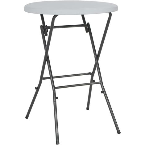 Folding Bar Table HDPE 80x110 cm White