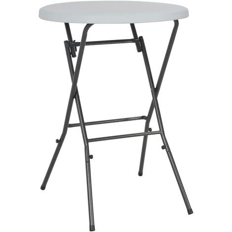 Folding Bar Table White 80x110 cm HDPE