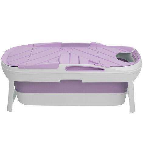 Folding Bathtub 140*64*54cm Portable Bathroom Capacity Soaking Tub