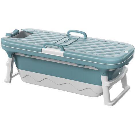 Folding Bathtub Portable Water Tub Spa Sauna Soaking Pool Bucket