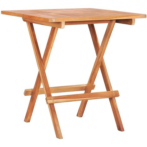 Folding Bistro Table 60x60x65 cm Solid Teak Wood