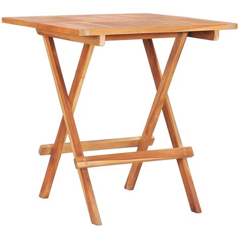 Folding Bistro Table 60x60x65 cm Solid Teak Wood - Brown