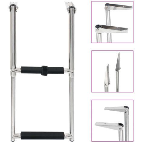 Folding Boarding Ladder 2-step Stainless Steel