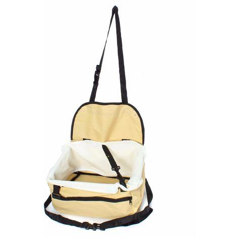 Folding Booster Basket Hammock Bag Cover Seat Dog Cat Animal Car Auto