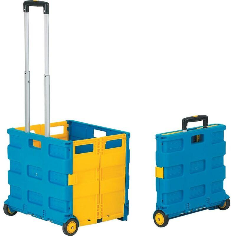 Image of Folding Box Truck 35KG Blue/Yellow - GPC