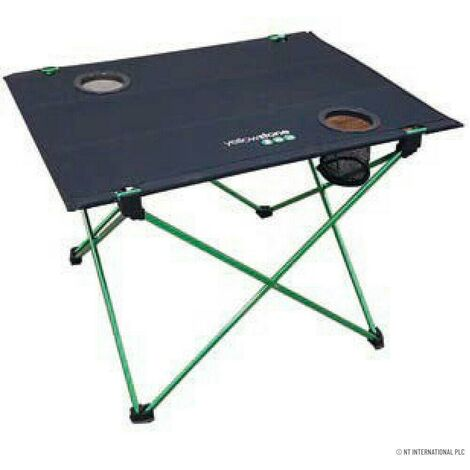 """main image of """"FOLDING CAMPING TABLE BEACH CUP HOLDER PORTABLE PICNIC WITH CARRY BAG ALUMINIUM"""""""