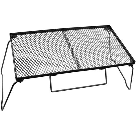"""main image of """"Folding Camping Table Portable Iron Desk Metal Cooking Table Folding Campfire Grill for Outdoor BBQ Backpacking Fishing Hiking,model:Black"""""""
