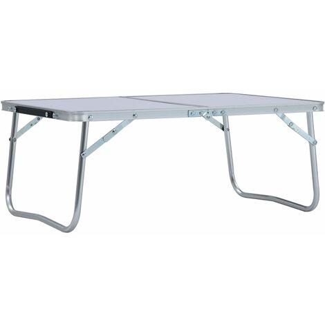 "main image of ""Folding Camping Table White Aluminium 60x40 cm33537-Serial number"""