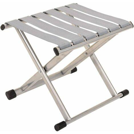 Folding chair Chaise Pliante Portable extérieure Tabouret Pliant épaississement Mazha Tabouret de pêche Pliant Simple Petit Banc Argent (grand)